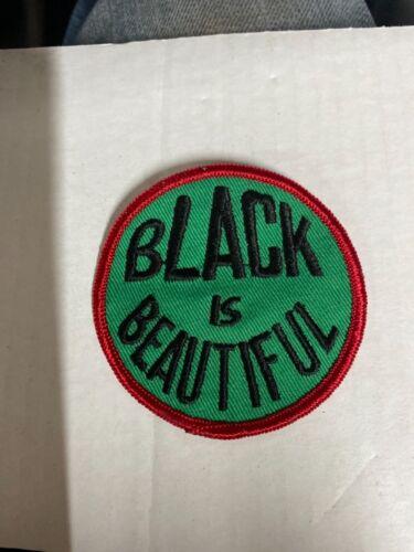 Vintage 1970's Black is Beautiful Hippie Cloth Patch