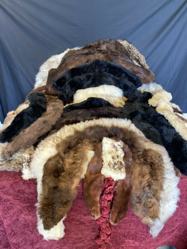 HUGE Lot of Vintage Fur Collars And Cuffs (55 To Be Exact!)