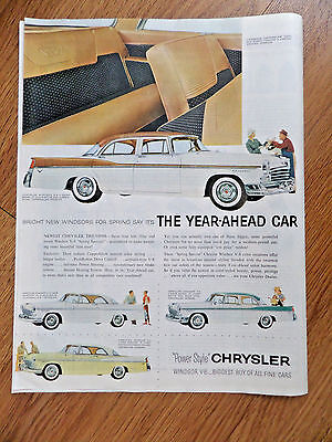 1956 Chrysler Windsor Newport Ad The New PowerStyle for 1956
