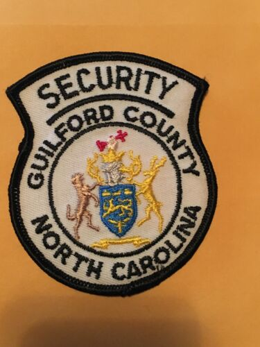 Guilford County North Carolina (court? jail?) Security Police Patch