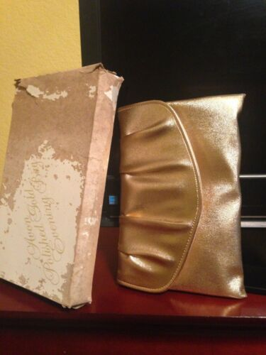 Avon Polished Gold Evening Bag (Clutch) - Unused - 1980