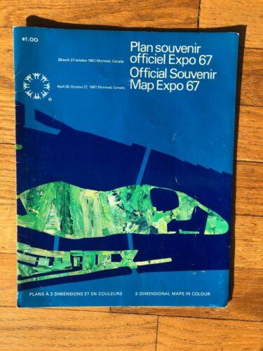 Official Souvenir Map Expo 67 - 3 Dimensional Maps in Colour