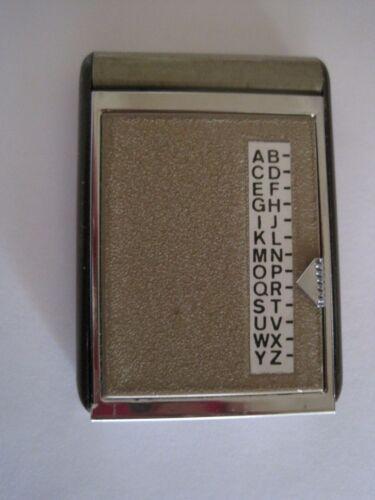 "Pocket Size Address Flip Deck GUC 2 3/4"" x 2"""