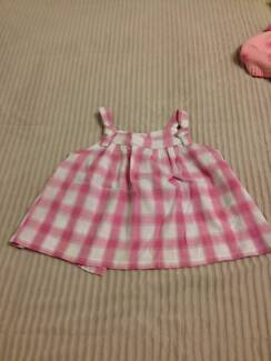 Zara baby pink and white check tank top size 12-18 months Russell Lea Canada Bay Area Preview