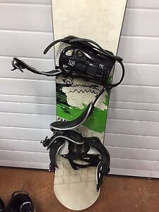 Snowboard and Ladies size 7 snowboard boots