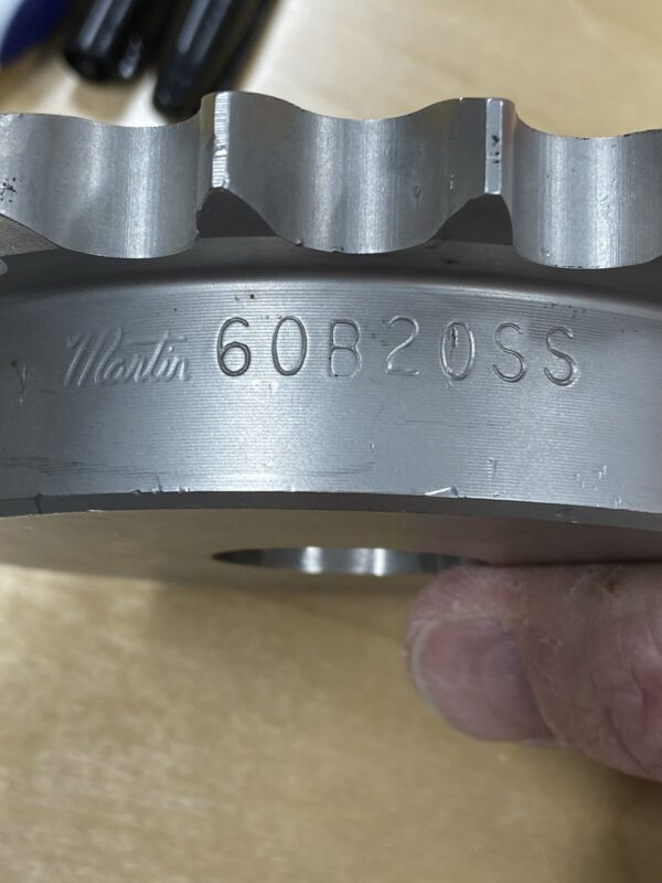 """MARTIN STAINLESS STEEL SPROCKET 60B20SS  1 1/4"""" BORE FOR ROLLER CHAIN PITCH 60"""