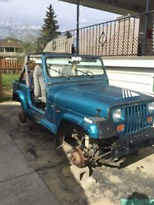 91 jeep yj for parts