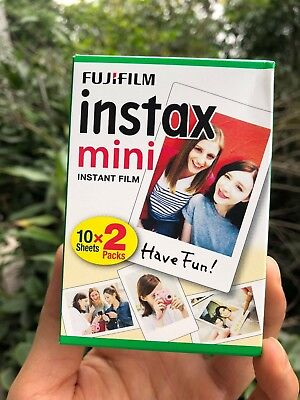 2Packs Plain White Instax Instant Film For Fuji Mini 90 70 7s 8 25 SP-1 50s Lomo