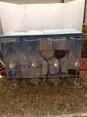 Luminarc Tulip Wine Glasses - 12 oz - Set of 12