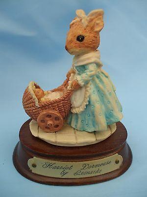 Collectable Leonardo Little Nook Village Harriet Dormouse Ornament on a Base