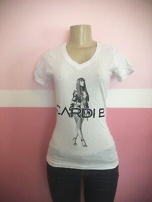 Women Cardi B Silhouette T Shirt   V Neck Or Crew Neck   Bodak Yellow Rap Money