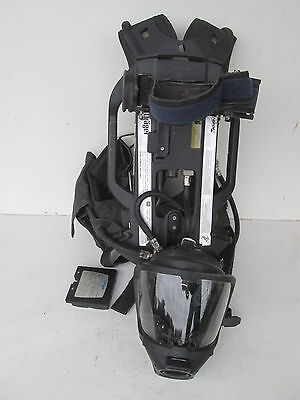 Drager Pss7000 Sentinel 4500psi Scba Pack Frame Harness With Pass Hud Mask