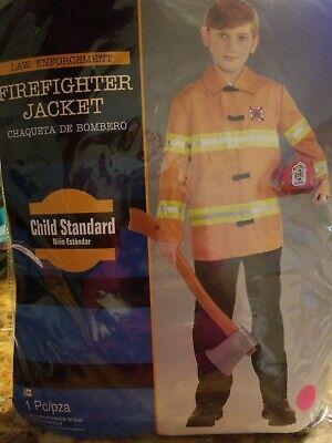 Firefighter Jacket Boys Child Fireman Halloween Costume Accessory #208 - Firefighter Jacket Halloween