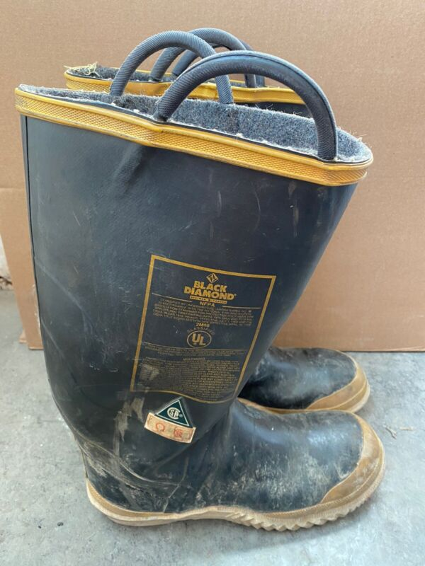 Vintage Black Diamond Firefighter Boots Size Men's 11M Medium Steel Toe