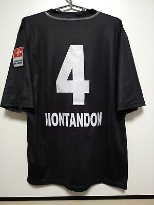SIZE XL LUGANO 2011-2012 MATCH ISSUE HOME FOOTBALL SHIRT JERSEY MONTANDON #4 image