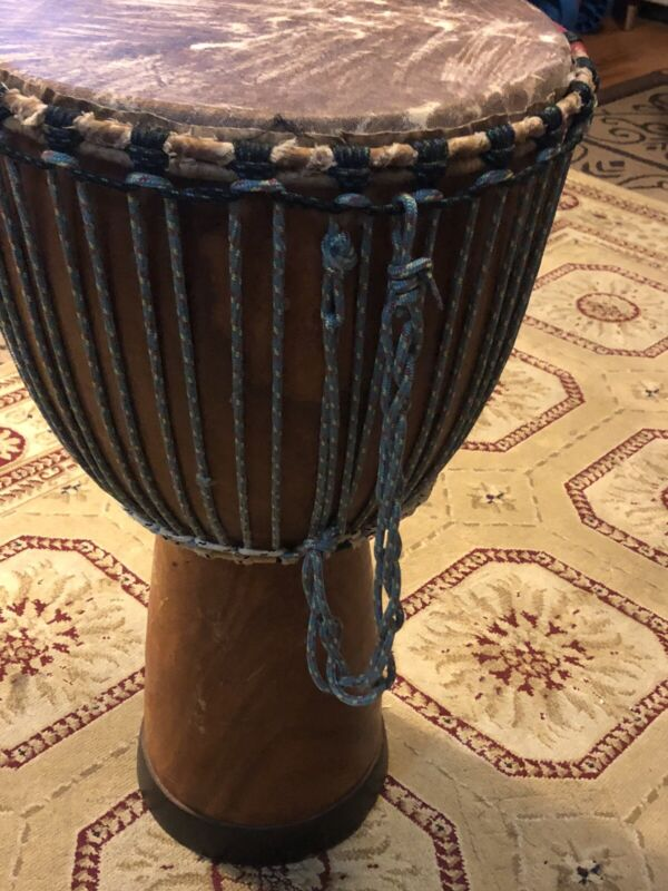 African Djembe Drum From Senegal West Africa Dimmable Wood Professional Handmade