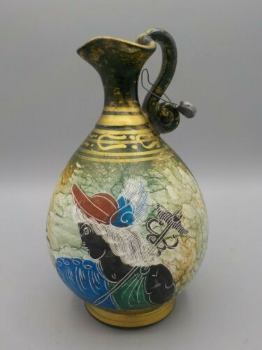 Vintage Greek Museum Reproduction Vase Ewer Greece Pottery w/Tag
