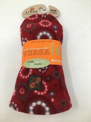 Acorn Womens Versafit Fleece Socks Red/Pattern Size XXS US
