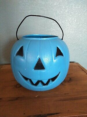 General Foam Plastics Halloween Candy Bucket Pail Jack O Lantern Blue