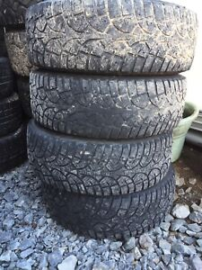 Four winter tires 195/65r15 on Volkswagen 5 bolt rims