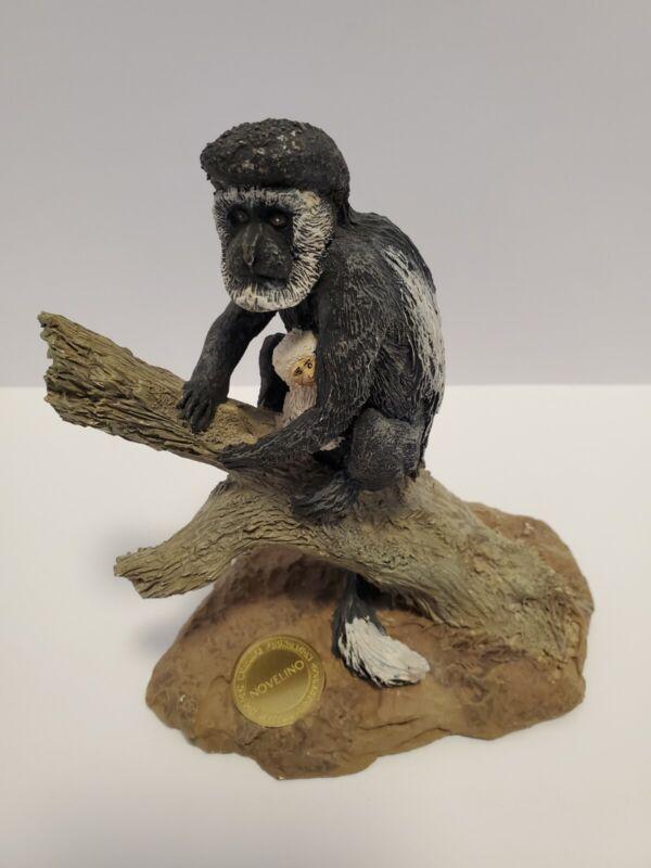 1990 Novelino William Holden Wildlife Foundation Colobus Monkey & baby Figurine