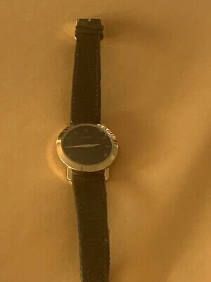 Authentic Gucci Vintage Rare Ladies Watch Leather Black Band Analog