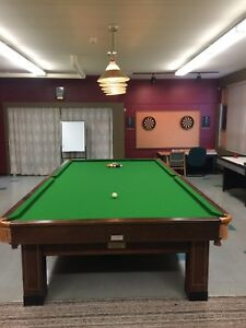 Professional 6x12 Snooker Table with Cover and Overhead Lights