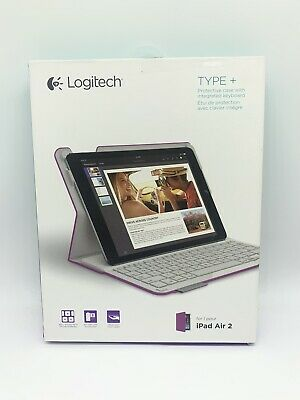 Logitech Type+ Case with Integrated Keyboard for iPad Air 2 - Purple