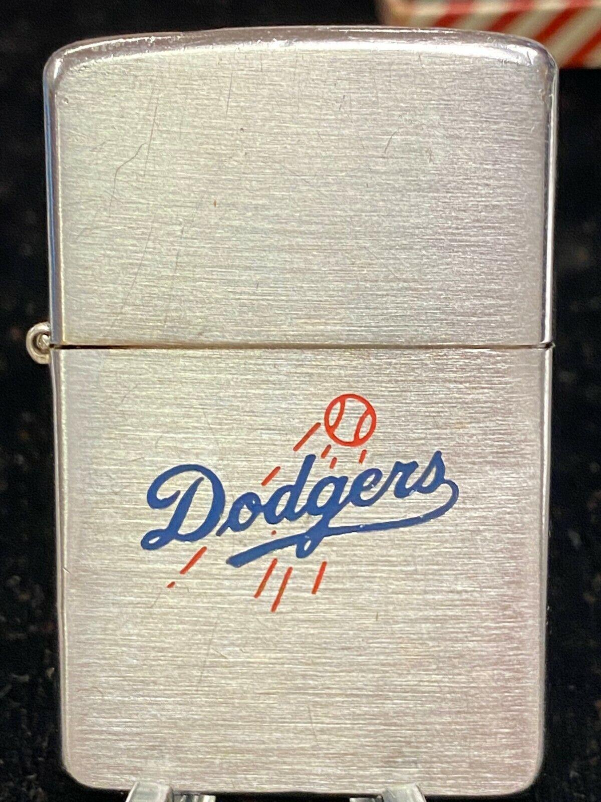 "Zippo lighter. ""l a dodgers"" baseball team emblem.  1950s. original box. lot d10"
