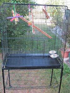 LARGE BIRD CAGE AVIARY on portable stand with castors Holland Park Brisbane South West Preview