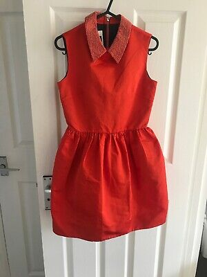 Alexander McQueen Party dress, Red Satin, Cocktail Dress Never Worn Size 6/xs