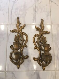 Vintage wall sconce candle holders