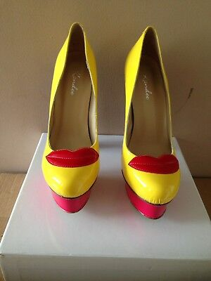 """Kandee Ladies """"Loud"""" Lip Detail Multi-colour Shoes BNIB Size 39 for sale  Shipping to Ireland"""