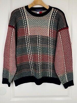 TOMMY HILFIGER LRG Crewneck Sweater Cotton Very Warm High Quality Mens
