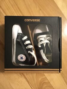 Converse First Star High Black Size 2 (3-6 month)