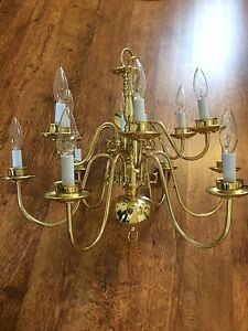Beautiful brass chandelier