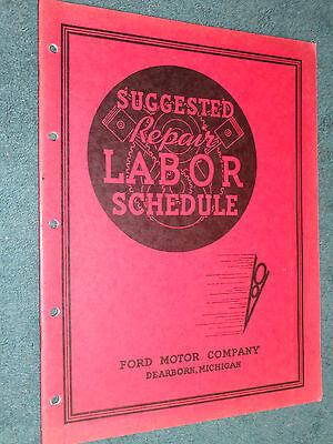 1937 Ford Car   Truck Flat Rate Manual   Original Labor Times Book