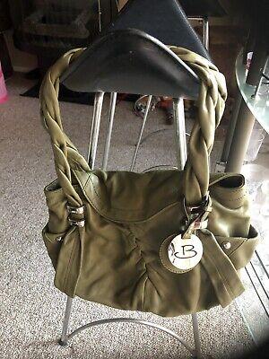 B.Makowsky shoulder bag/handbag Satchel purse  Pale Green butter soft leather