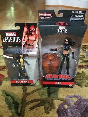 "Hasbro Marvel Legends Deadpool Series X-23 6"" & Wolverine (All-New) X-23 3.75"""