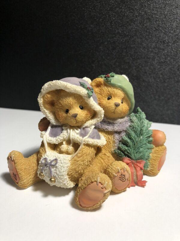 "Cherished Teddies 1996 Cheryl & Carl ""Wishing you a Cozy Christmas"" Figurine"