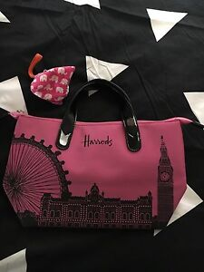 Pink Harrods Bag & Pink Coin Purse Heathridge Joondalup Area Preview