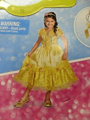 Disney's Beauty and the Beast Belle Deluxe Costume for Kids  4-6X New With Tags!