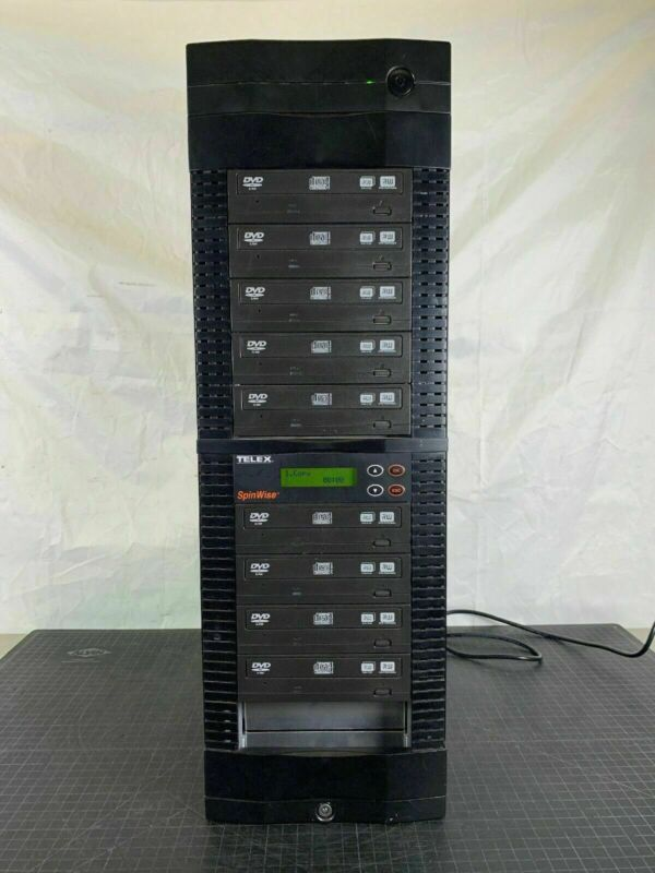 TELEX SpinWise 301994000-16D 10 Bay CD DVD Duplicator Tower