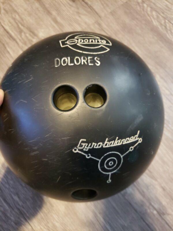Vintage Ebonite Black Firebolt Bowling Ball  Retro Old School 14 pounds