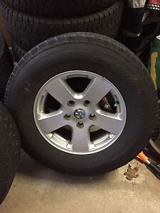 "Dodge Ram 1500 17"" rims with winter tires"