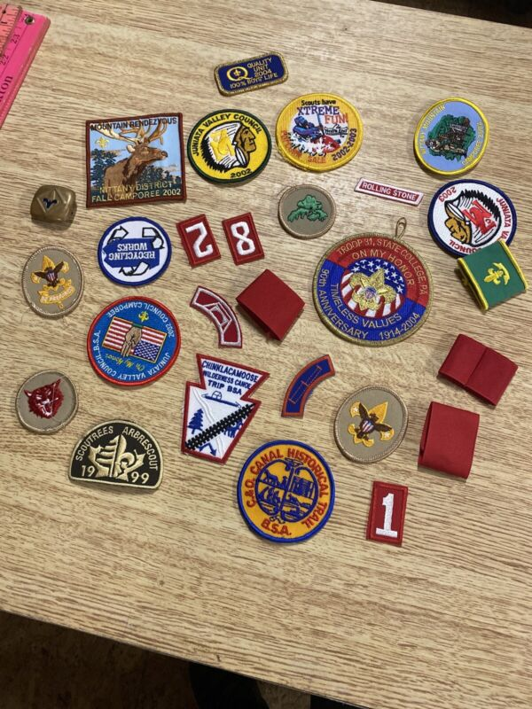Lot Of Boy Scout  Patches And Other Items