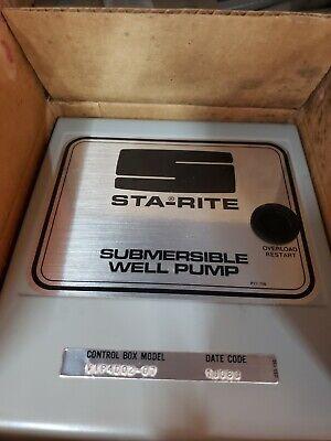 Sta-rite Vip4d02-07b Submersible Well Pump Control Box 34hp 230 Volt