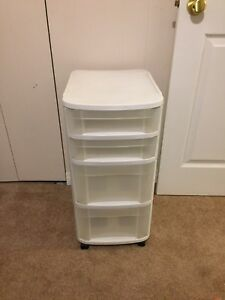Sterilite plastic drawers