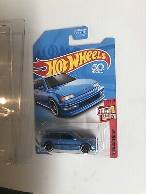 HOT WHEELS KMART EXCLUSIVE '90 HONDA CIVIC EF THEN AMD NOW ON NICE CARD