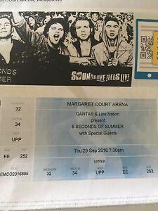 5 Seconds of summer melbourne concert ticket. Castlemaine Mount Alexander Area Preview